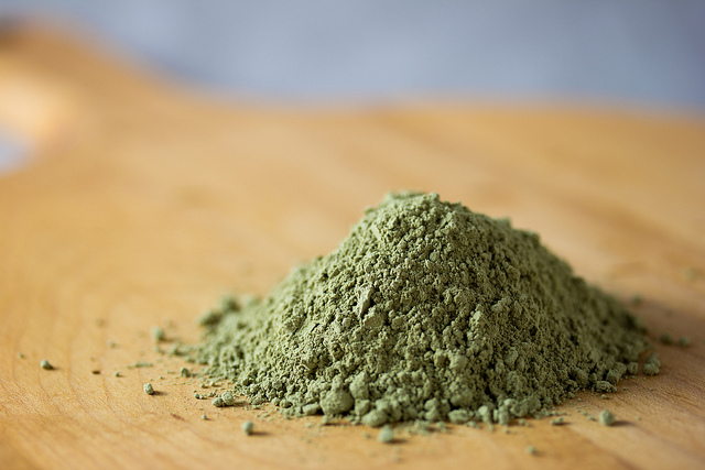 green tea powder from Kyoto Japan